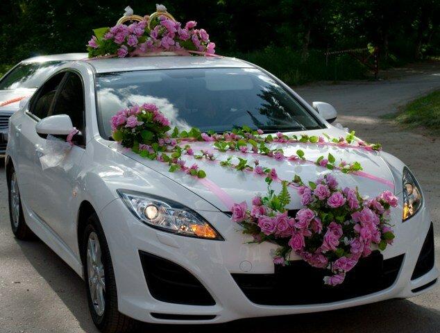 Украсим автомобиль на свадьбу